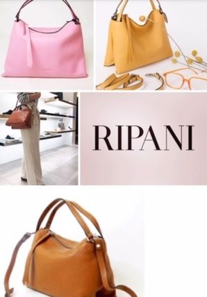 RIPANI Shoulder Bags Casual Style 2WAY Leather Elegant Style Shoulder Bags