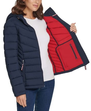 Tommy Hilfiger Short Street Style Plain Logo Down Jackets