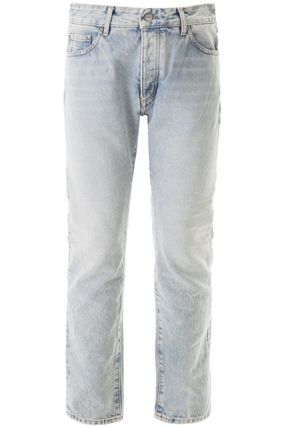 Plain Cotton Logo Jeans