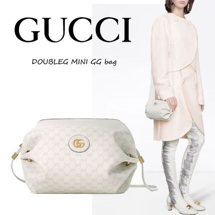 GUCCI GG Marmont Casual Style Vanity Bags 2WAY Plain Leather Party Style