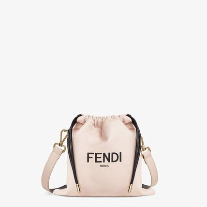 Casual Style Elegant Style Logo Shoulder Bags