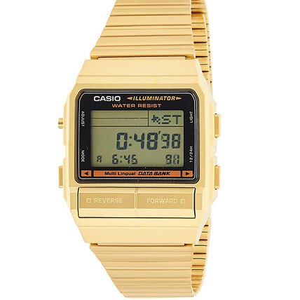CASIO Casual Style Unisex Street Style Square Stainless
