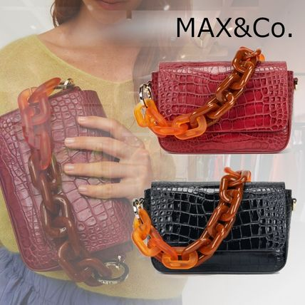 Max&Co. Casual Style Faux Fur 3WAY Chain Plain Other Animal Patterns