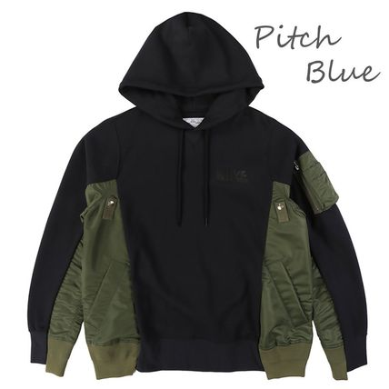 Pullovers Unisex Street Style Collaboration Bi-color