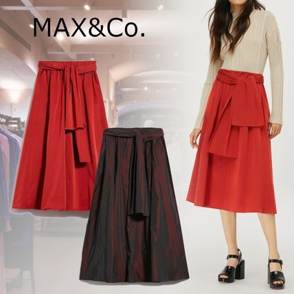 Max&Co. Flared Skirts Casual Style Plain Medium Party Style