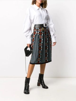 Casual Style Wool Medium Midi Skirts