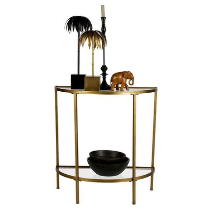 Unisex Gold Furniture Consoles Table & Chair