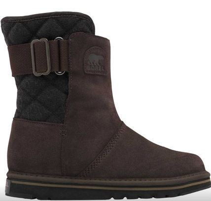 Casual Style Suede Plain Logo Boots Boots