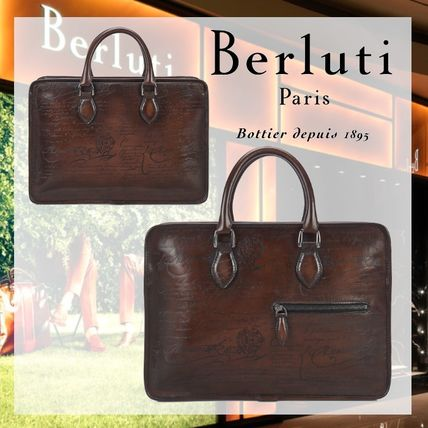 Berluti Leather Logo Business & Briefcases