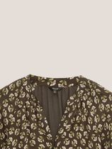 Massimo Dutti Dresses Flower Patterns Casual Style A-line V-Neck Long Sleeves 6