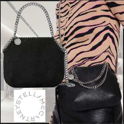 Stella McCartney FALABELLA Casual Style Chain Plain Elegant Style Logo Shoulder Bags