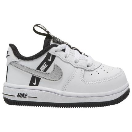 Nike AIR FORCE 1 Unisex Street Style Collaboration Kids Girl Sneakers