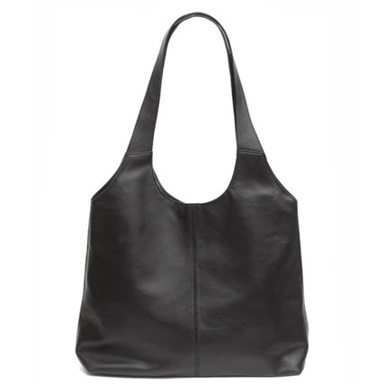 Casual Style Lambskin Plain Leather Office Style