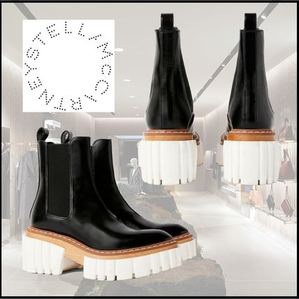 Stella McCartney Platform Rubber Sole Plain Ankle & Booties Boots