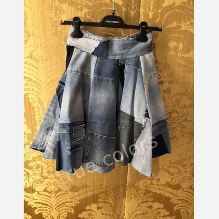 Dolce & Gabbana Short Casual Style Denim Circle Skirts Skirts