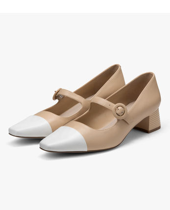Pedro Square Toe Casual Style Bi-color Leather Party Style