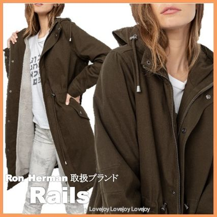 Shearling Military Casual Style Faux Fur Blended Fabrics