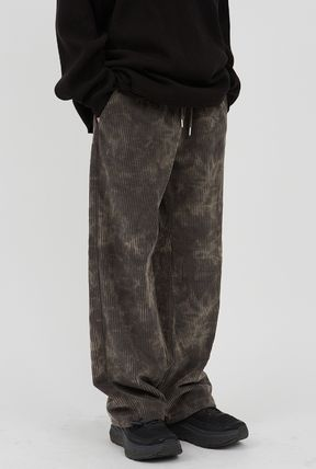 Raucohouse Slax Pants Unisex Corduroy Street Style Collaboration Cotton