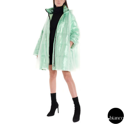 Nylon Plain Long Oversized Metallic Neon Color Icy Color