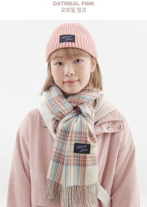 Other Plaid Patterns Unisex Street Style Shearling Logo