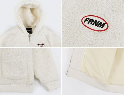 Casual Style Street Style Plain Medium Shearling Logo