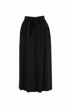 LOEWE Casual Style Street Style Plain Long Elegant Style Culottes