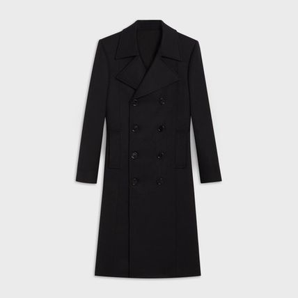 CELINE Wool Long Peacoats Coats
