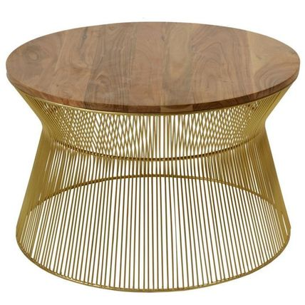 Menzzo Unisex Wooden Furniture Gold Furniture Table & Chair