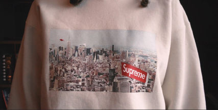 Supreme Sweatshirts Crew Neck Pullovers Unisex Street Style Long Sleeves Plain 4