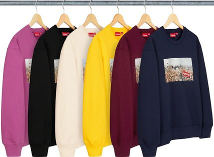 Supreme Sweatshirts Crew Neck Pullovers Unisex Street Style Long Sleeves Plain 8