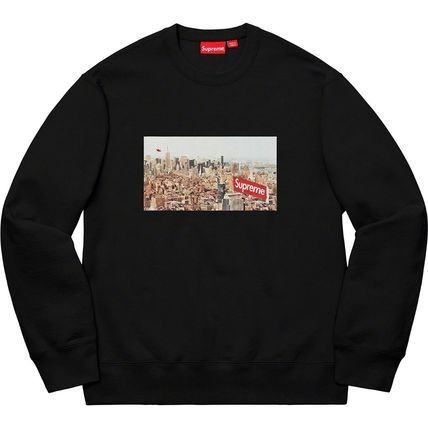 Supreme Sweatshirts Crew Neck Pullovers Unisex Street Style Long Sleeves Plain 9