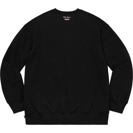 Supreme Sweatshirts Crew Neck Pullovers Unisex Street Style Long Sleeves Plain 10