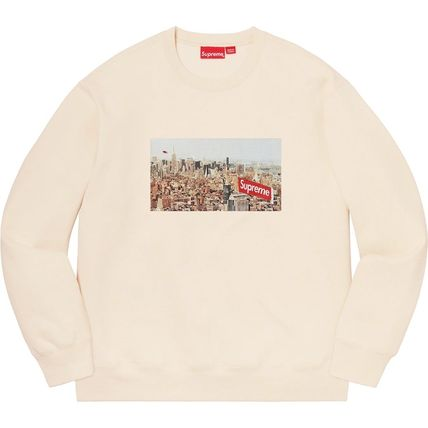 Supreme Sweatshirts Crew Neck Pullovers Unisex Street Style Long Sleeves Plain 11