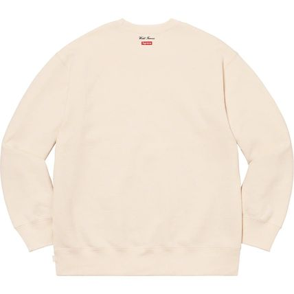 Supreme Sweatshirts Crew Neck Pullovers Unisex Street Style Long Sleeves Plain 12