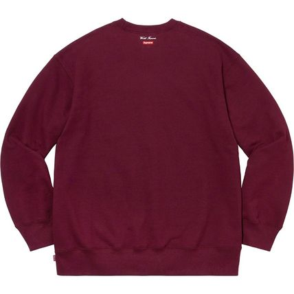 Supreme Sweatshirts Crew Neck Pullovers Unisex Street Style Long Sleeves Plain 14