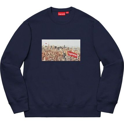Supreme Sweatshirts Crew Neck Pullovers Unisex Street Style Long Sleeves Plain 15