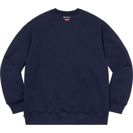Supreme Sweatshirts Crew Neck Pullovers Unisex Street Style Long Sleeves Plain 16