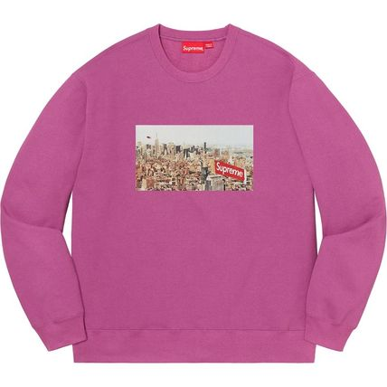 Supreme Sweatshirts Crew Neck Pullovers Unisex Street Style Long Sleeves Plain 17