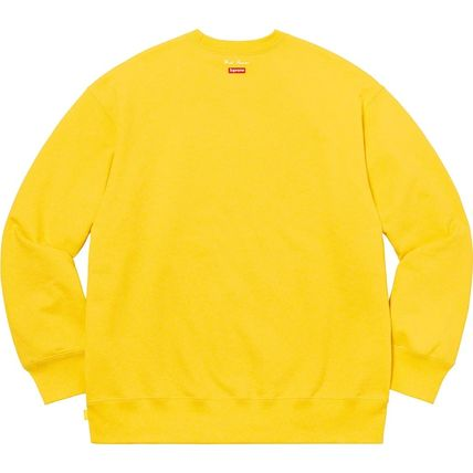 Supreme Sweatshirts Crew Neck Pullovers Unisex Street Style Long Sleeves Plain 20