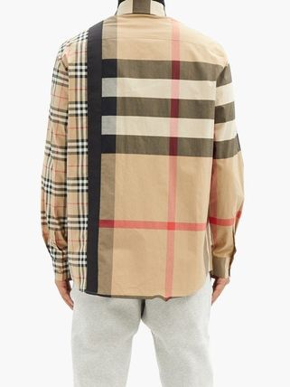 Burberry Shirts Button-down Other Plaid Patterns Unisex Street Style 11