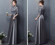 Flower Patterns Flared Cropped Long High-Neck Oversized