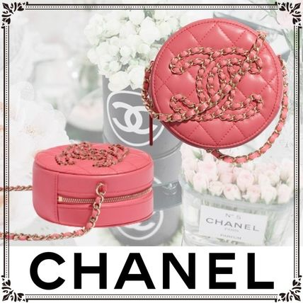 CHANEL Casual Style Lambskin 2WAY Chain Plain Leather Party Style