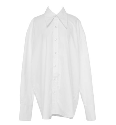 OPEN THE DOOR Shirts Street Style Collaboration Long Sleeves Plain Oversized 9