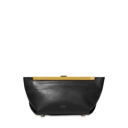 Plain Leather Party Style Elegant Style Clutches