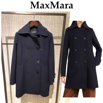 Weekend Max Mara Casual Style Wool Plain Peacoats
