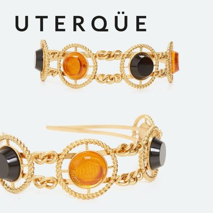 Uterque Casual Style Party Style With Jewels Elegant Style Headbands