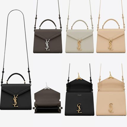 Saint Laurent Casual Style Plain Leather Party Style Office Style