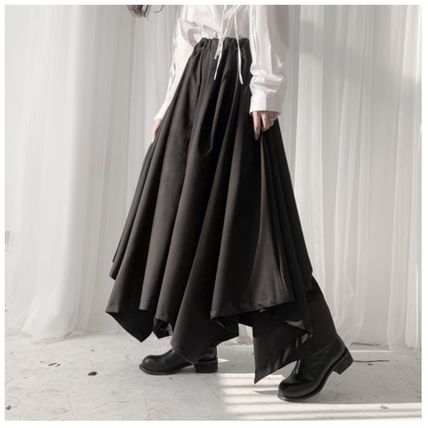 Casual Style Plain Long Sarouel Pants