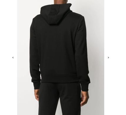 MONCLER Hoodies Long Sleeves Plain Cotton Logos on the Sleeves Logo Hoodies 3