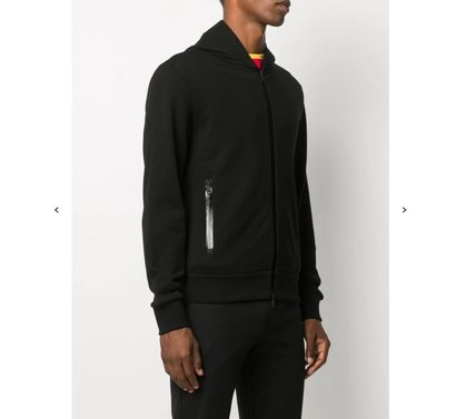 MONCLER Hoodies Long Sleeves Plain Cotton Logos on the Sleeves Logo Hoodies 4